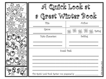 Reading Book Reviews/Reports  w Bookmarks No Prep Printables for Bulletin Boards