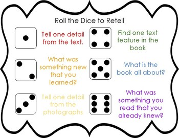 Reading Non Fiction Dice Game