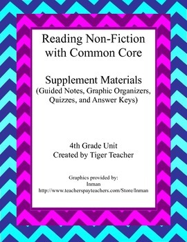 Reading Non-Fiction with Common Core Supplement Pack
