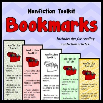 Reading Nonfiction Bookmarks