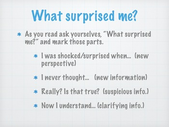 Notice and Note Reading Nonfiction:  Introduction and What Surprised Me