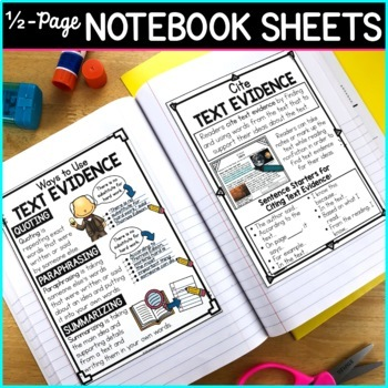 Reading Nonfiction Posters, Nonfiction Anchor Charts & Reader's Notebook Sheets
