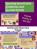 Reading Nonfiction PowerPoint and Guided Notes