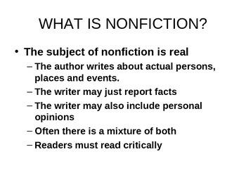 Reading Nonfiction Presentation