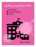 FREE SAMPLE: Reading Note Page: Characterization/ Characte