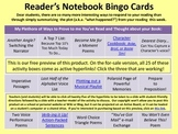 No more Book Reports! Reading Notebook Bingo Card Challeng