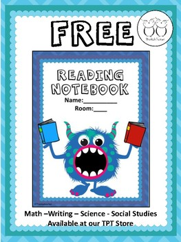 FREE Reading Notebook Cover