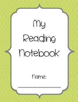 Reading Notebook Cover and Forms