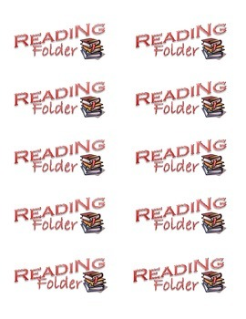 Reading Notebook & Folder Labels