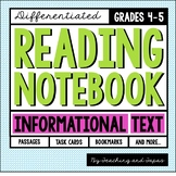 Reading Notebook *4th-5th Grade* INFORMATIONAL TEXT