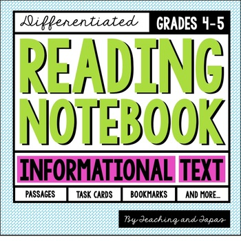 Reading Notebook (4th-5th Grade Informational Text)