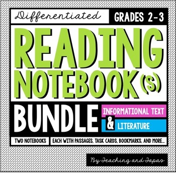 Reading Notebook (Informational Text + Literature BUNDLE)