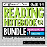 Reading Notebook *4th-5th Grade* Informational Text & Literature BUNDLE