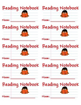 reading notebook labels printable on avery 5163 by the teaching