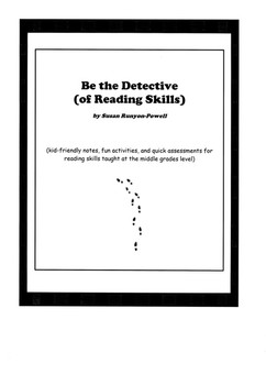 Reading Notebook Notes, Fun Activity Projects, & Assessments - Be a Detective!