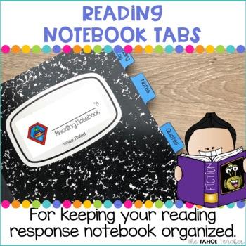 Reading Notebook Organization Tabs
