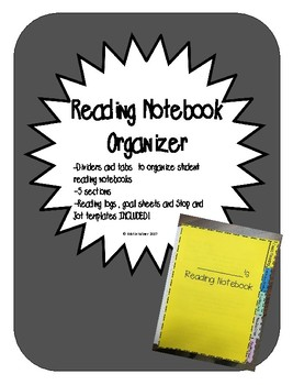Reading Notebook Organizer