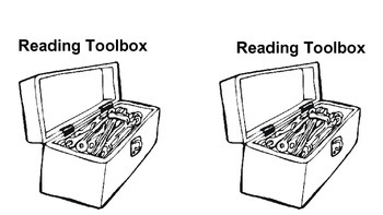 Reading Notebook Section Titles: Tool Box Themed