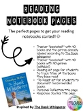 Reading Notebook Starter Pages