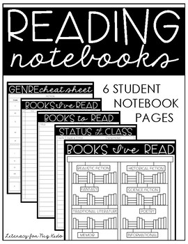 Reading Notebook Student Pages