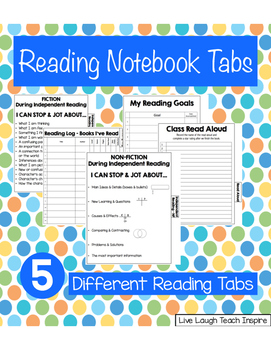 Reading Notebook Tabs