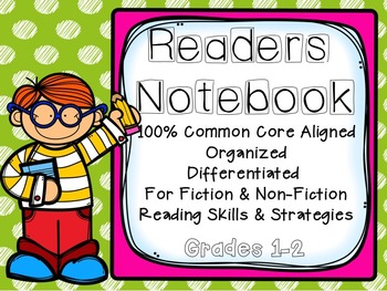Reading Notebook for Grades 1-2: Common Core Aligned, Fiction and Non-Fiction