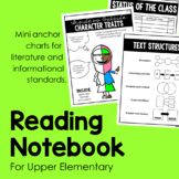 Reading Notebook for Upper Elementary