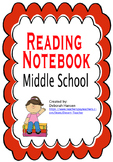 Reading Notebook templates for Middle School