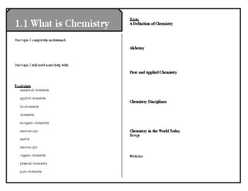 Reading Notes CK-12 Chemistry Intermediate - Introduction to Chemistry