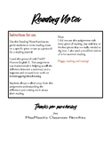 Reading Notes Handout