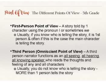 Reading Notes/ Lessons: Point Of View