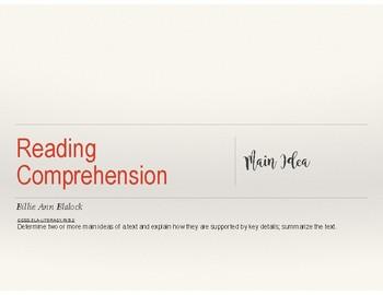 Reading Notes/ Lessons: Main Idea