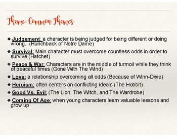 Reading Notes/ Lessons: Theme
