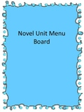 Reading Novel Menu Board
