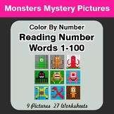 Reading Number Words 1-100 - Color By Number - Monsters My