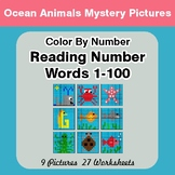 Reading Number Words 1-100 - Color By Number - Ocean Anima