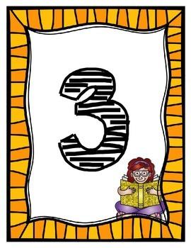 Reading Numbers 1-24 Freebie