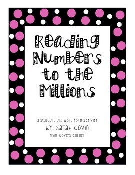 Reading Numbers to the Hundred Millions