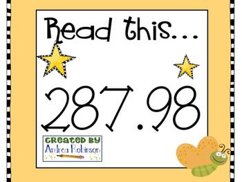 Reading Numbers with Decimals