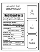 Reading Nutrition Facts Task Clip Cards Life Skills Food Labels