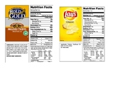 Reading Nutrition Labels - Calculating Percent Fat Science Lab Activity