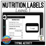 Reading Nutrition Labels Level 1 Typing Boom Cards