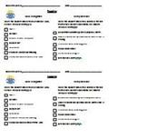 Reading Observation Checklist
