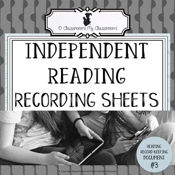 Reading Observation Recording Sheets - Reading Record Keeping - Document #3