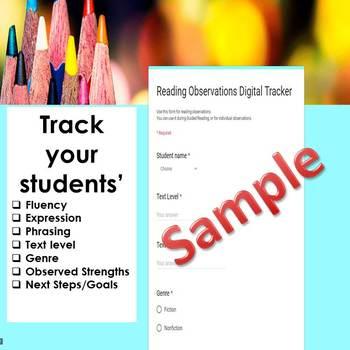 Reading Observations Digital Tracker