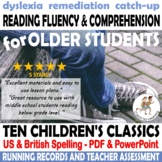 {MIDDLE SCHOOL READING INTERVENTION} {Intervention fluency passages} {DYSLEXIA}