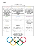 Reading Olympics Challenge Board