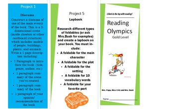 Reading Olympics Pamphlet - Gold