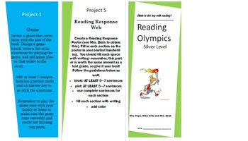 Reading Olympics Pamphlet - Silver