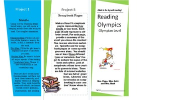 Reading Olympics Pamphlet - Olympian